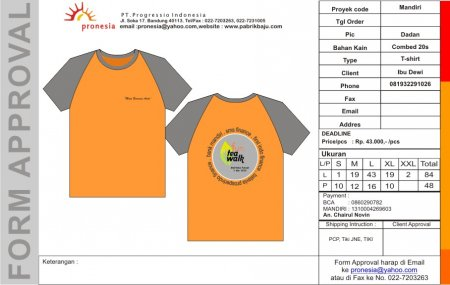 T-Shirt Bank Mandiri